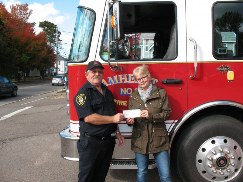 Amherst Fire Fighter's Association Annual Donation to United